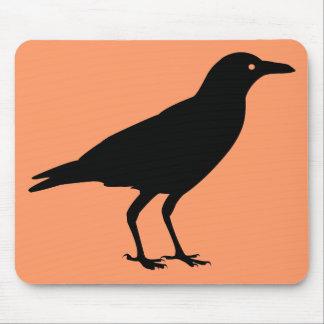 El mejor naranja Halloween del cuervo del negro Tapete De Ratón