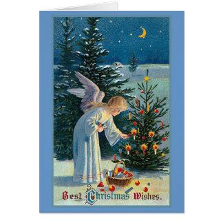 """El """"mejor navidad desea"""" el vintage tarjeta de felicitación"""