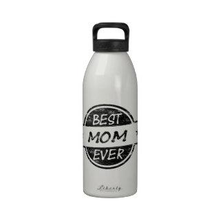 El mejor negro de la mamá nunca botella de agua