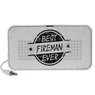 El mejor negro del bombero nunca iPod altavoz