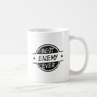 El mejor negro del enemigo nunca taza de café