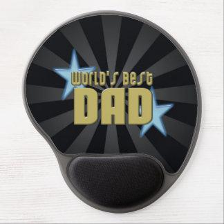 El mejor negro del papá del mundo/el día de padre alfombrillas de ratón con gel