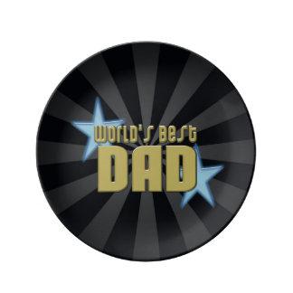 El mejor negro del papá del mundo/el día de padre  platos de cerámica