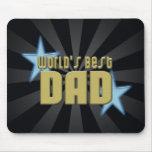 El mejor negro del papá del mundo/el día de padre  alfombrillas de ratones