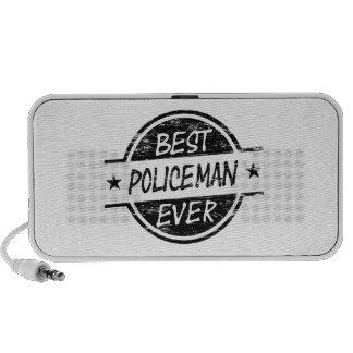 El mejor negro del policía nunca laptop altavoces