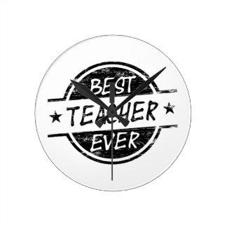 El mejor negro del profesor nunca relojes de pared