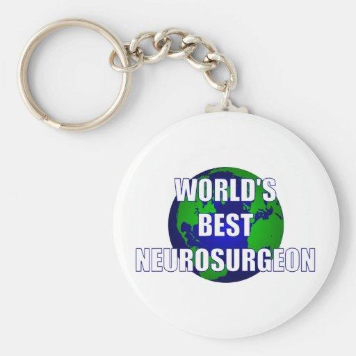 El mejor neurocirujano del mundo llavero personalizado