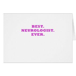 El mejor neurólogo nunca tarjeta de felicitación