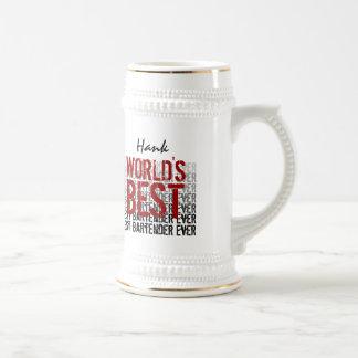 El mejor nombre del personalizado del camarero del taza de café