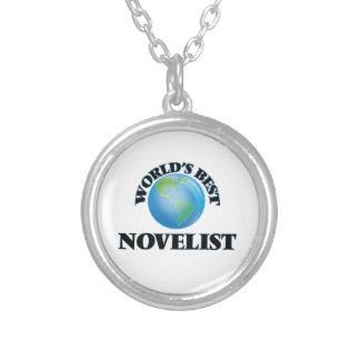 El mejor novelista del mundo collar personalizado
