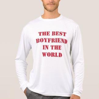 El mejor novio de la camiseta de manga larga del m playeras