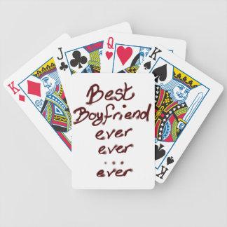 El mejor novio nunca barajas de cartas