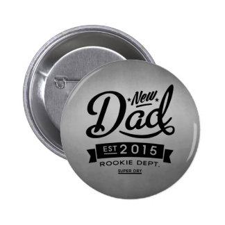 El mejor nuevo papá 2015 pin redondo 5 cm