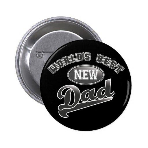 El mejor nuevo papá del mundo pin