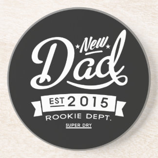 El mejor nuevo papá oscuro 2015 posavasos de arenisca