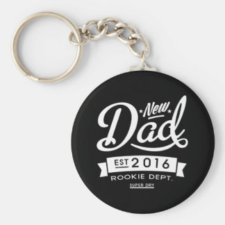 El mejor nuevo papá oscuro 2016 llavero redondo tipo pin