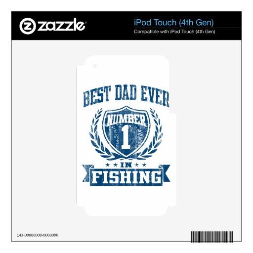 El mejor número uno del papá nunca en la pesca skins para iPod touch 4G