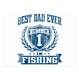 El mejor número uno del papá nunca en la pesca tarjetas postales