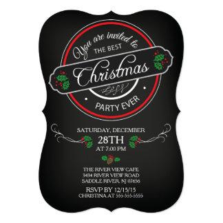 """El mejor nvitation de la fiesta de Navidad de la Invitación 5"""" X 7"""""""