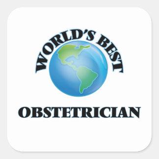 El mejor obstétrico del mundo colcomanias cuadradas personalizadas