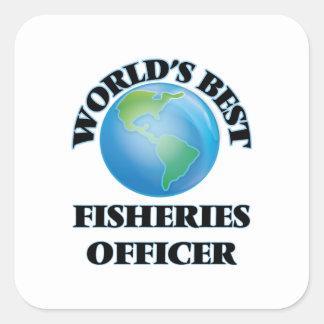 El mejor oficial de las industrias pesqueras del calcomanías cuadradass personalizadas