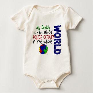 El mejor oficial de policía en el mundo 2 (papá) body para bebé