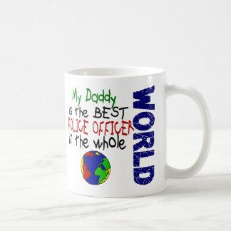 El mejor oficial de policía en el mundo 2 (papá) taza básica blanca