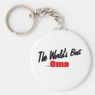El mejor Oma del mundo Llavero Redondo Tipo Pin