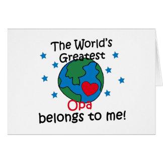 El mejor Opa pertenece a mí Tarjeta De Felicitación