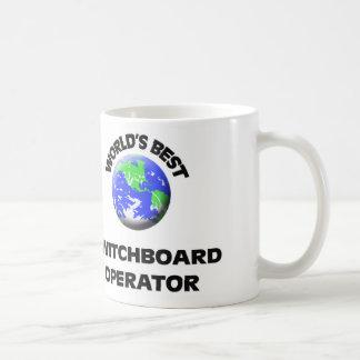 El mejor operador de la centralita telefónica del taza de café