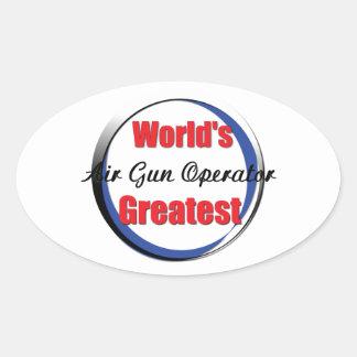 El mejor operador del Airgun de los mundos Pegatina Ovalada