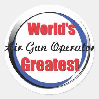 El mejor operador del Airgun de los mundos Pegatina Redonda