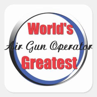 El mejor operador del Airgun de los mundos Pegatina Cuadrada