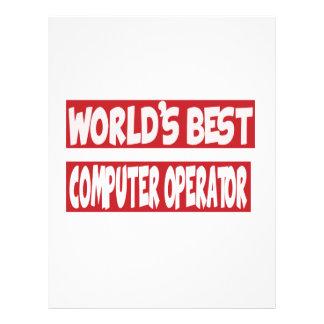 El mejor operador del mundo membrete a diseño