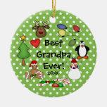 El mejor ornamento del navidad del abuelo nunca ornato