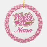 El mejor ornamento del regalo de Nana del mundo Adornos