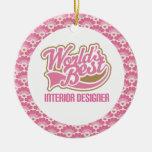 El mejor ornamento del regalo del interiorista del adorno de navidad
