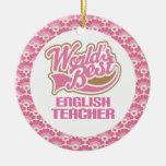 El mejor ornamento del regalo del profesor de ingl ornamentos de reyes magos