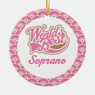 El mejor ornamento del regalo del soprano del adornos de navidad