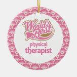 El mejor ornamento del regalo del terapeuta físico ornamentos para reyes magos