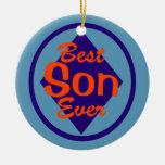 El mejor ornamento nunca personalizado del hijo adorno de navidad