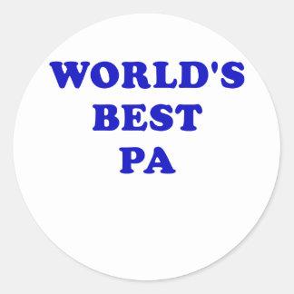 El mejor PA de los mundos Pegatina Redonda
