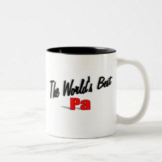 El mejor PA del mundo Taza De Café De Dos Colores