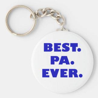 El mejor PA nunca Llavero Redondo Tipo Pin