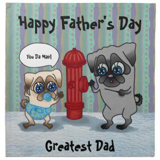 El mejor padre del barro amasado del papá y bebé servilleta imprimida
