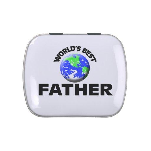El mejor padre del mundo frascos de dulces