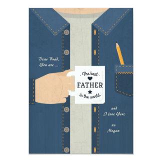 """El mejor padre en el mundo invitación 5"""" x 7"""""""