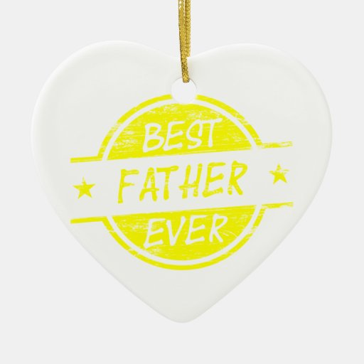 El mejor padre nunca Yellow.png Adorno Navideño De Cerámica En Forma De Corazón