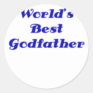El mejor padrino de los mundos pegatina redonda
