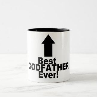 El mejor padrino nunca taza de café de dos colores